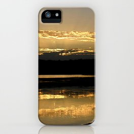Sunsetting on a golden Pond iPhone Case