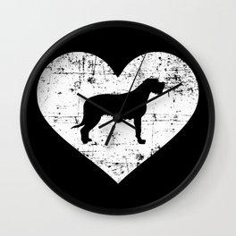Irish Wolfhound heart Wall Clock