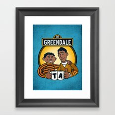 Greendale Street Framed Art Print