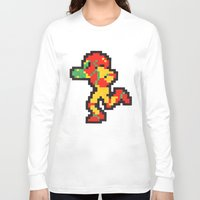 samus Long Sleeve T-shirts featuring samus by Walter Melon