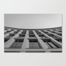 Bowed Building Canvas Print