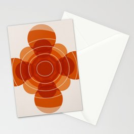 Earthy Red Scandinavian Floral Design Stationery Cards