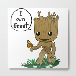 I am groothappy Metal Print