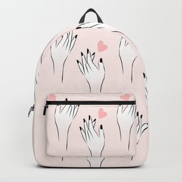 Catching Love Hand Pattern Backpack