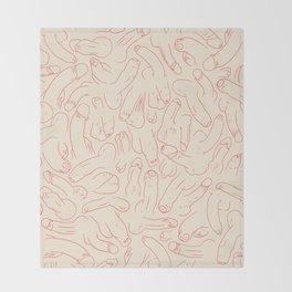 Penis Pattern Throw Blanket