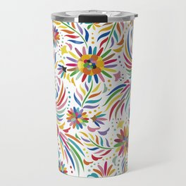 Mexican bird and flowers Travel Mug