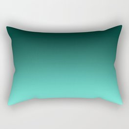 Turquoise and white blurred background Rectangular Pillow