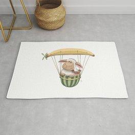 Fruity Sheep Flight - Banana Balloon Rug