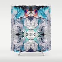 psych Shower Curtains featuring Transcends by Work the Angle
