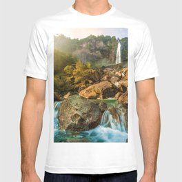 Rocky Waterfall (Color) T-shirt