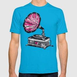 Linocut Gramophone T-shirt