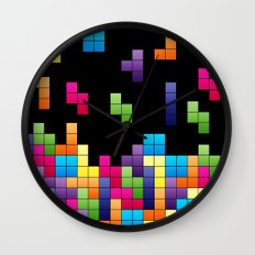 Tetris Troubles. Wall Clock