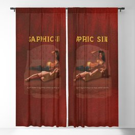 Sapphic Sin - Erotic Lesbian Nude Naked Pulp Novel Cover Art Blackout Curtain
