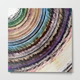 Abstract Textural Rings Metal Print