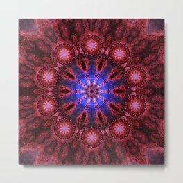 Cosmic Aura Mandala Metal Print
