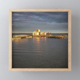 Delta - Sunset Framed Mini Art Print
