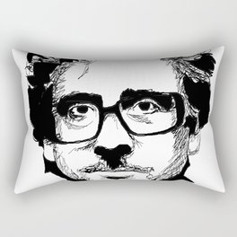 Tim Burton in colors by burro Rectangular Pillow