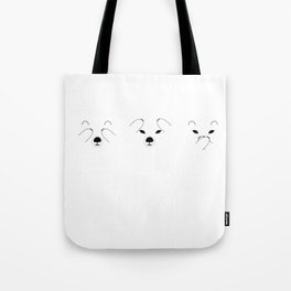 Three Wise Polar Bears Tote Bag