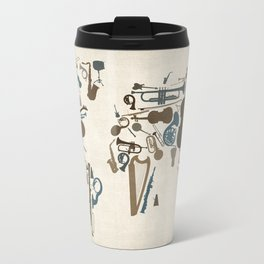 Musical Instruments Map of the World Travel Mug