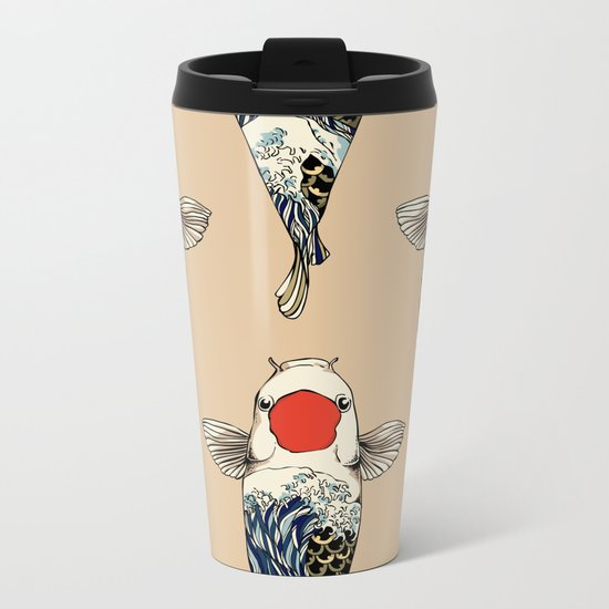 The Great Wave Of Koi Metal Travel Mug
