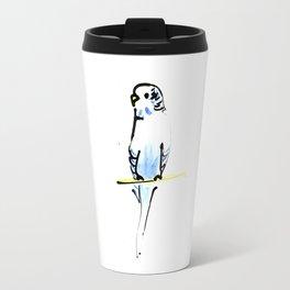 Blue and Yellow Pet Budgie Print Travel Mug