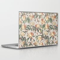 bedding Laptop & iPad Skins featuring Soft Vintage Rose Pattern by micklyn