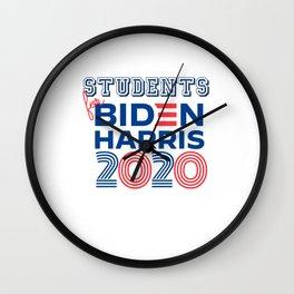 STUDENTS for Biden Harris 2020 Wall Clock