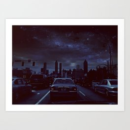 atlanta night Art Print
