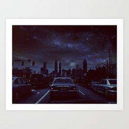 atlanta night Art Print