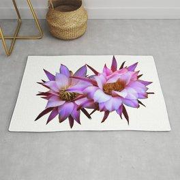 Purple cactus blossom Rug