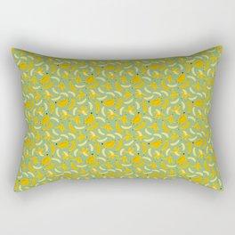 Banana Pattern Green Rectangular Pillow