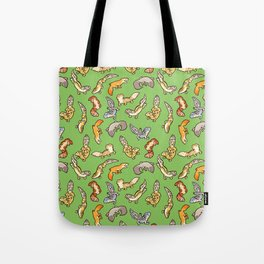 geckos in green Tote Bag