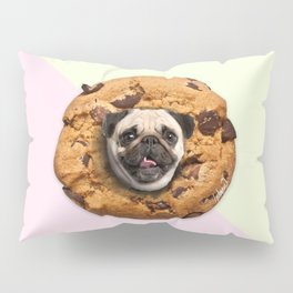 Pug Chocolate Chip Cookie Pillow Sham