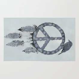 A dreamcatcher for peace Rug