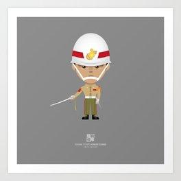 Honor Guard - Saber Drill  Art Print
