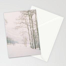 Aspen in snow - Beaver Creek, Colorado Stationery Cards