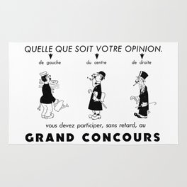 French Political Poster 1953 Rug