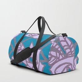 Turquoise Rose Trellis Duffle Bag
