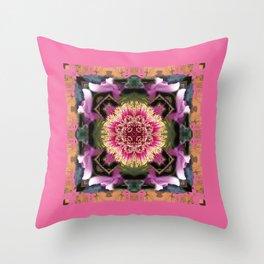Flower Kaleidoscope 2 Throw Pillow