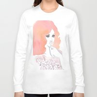 fashion illustration Long Sleeve T-shirts featuring fashion illustration by Yulia Puchko