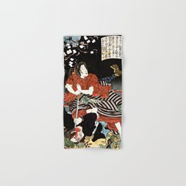 The Woman Kansuke Slaying an Assailant with a Sword Hand & Bath Towel