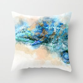 Chameleon– Changed Outside, Real Inside Throw Pillow