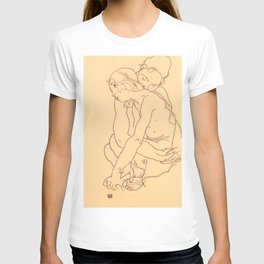 "Egon Schiele ""Woman and Girl Embracing"" T-shirt"