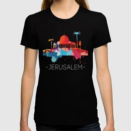 Jerusalem Cityscape Watercolor T-shirt
