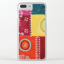 Paper Patchwork Clear iPhone Case