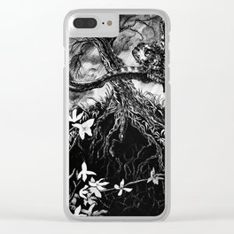 Stormy Flight Clear iPhone Case