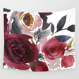 Rojo Floral Wall Tapestry