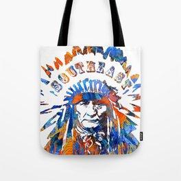 Southeast Native American Logo Design by Sharon Cummings Tote Bag