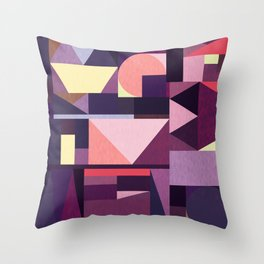 Kaku Purples Throw Pillow