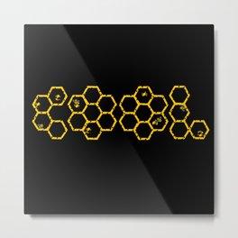 Bee Cool Metal Print